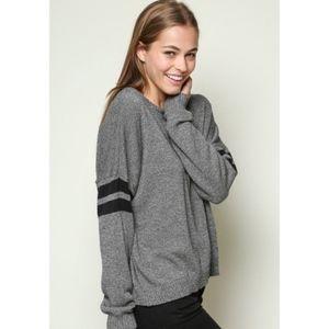 Brandy Melville Veena Varsity Stripe Sweater